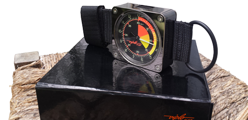 V10 skydiver altimeter - on his box