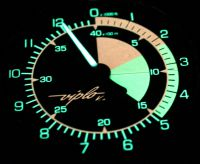 V10 skydiver altimeter - night dial