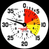 FT70 meters/feet (4.000 meters ≈ 13.000 feet) on the same dial